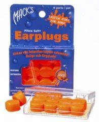 Macks silikonikorvasuoja lapsille oranssi 6 paria