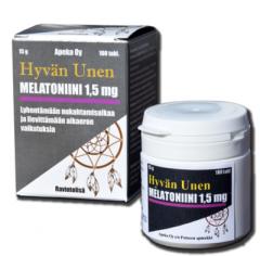Hyvän unen Melatoniini 1,5 mg 100 tabl