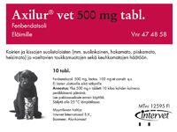 AXILUR 500 mg vet tabl 10 fol